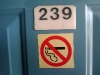 No upside down smoking in room 239