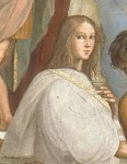 Hypatia, detail from School fo Athens (1510) by Raphael Sanzio
